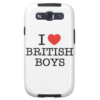 J'aime les garçons britanniques étuis galaxy s3