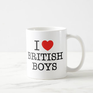 J'aime les garçons britanniques mug