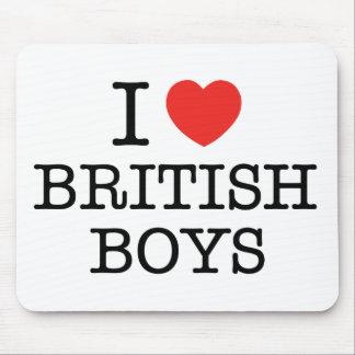 J'aime les garçons britanniques tapis de souris