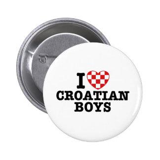 J'aime les garçons croates badges