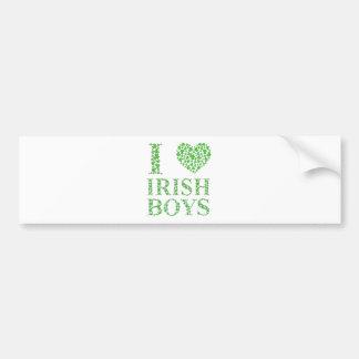 J'aime les garçons irlandais autocollant pour voiture