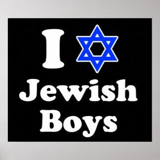 J'aime les garçons juifs posters