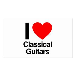 j'aime les guitares classiques carte de visite standard