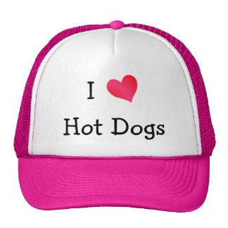 J'aime les hot-dogs casquettes de camionneur