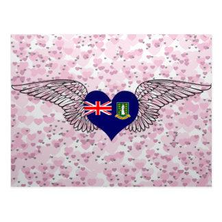 J'aime les Îles Vierges britanniques - ailes Carte Postale