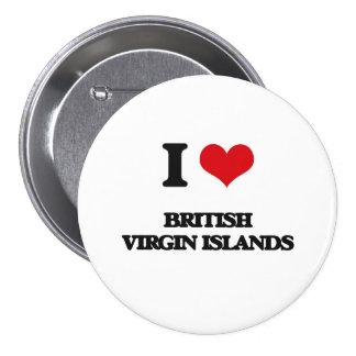 J'aime les Îles Vierges britanniques Badge
