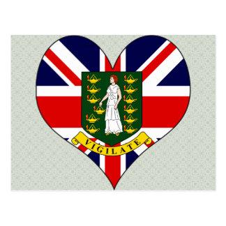 J'aime les Îles Vierges britanniques Carte Postale