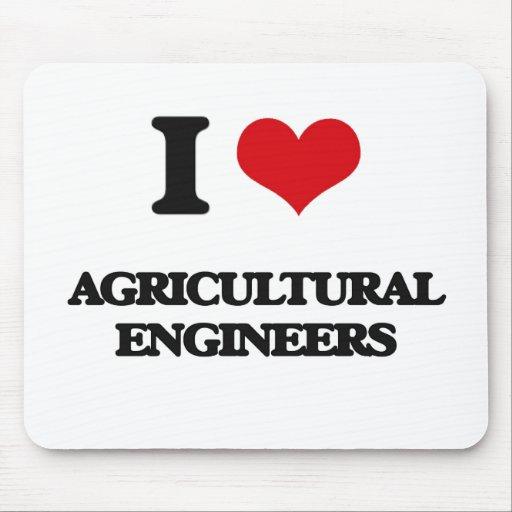 J'aime les ingénieurs agricoles tapis de souris