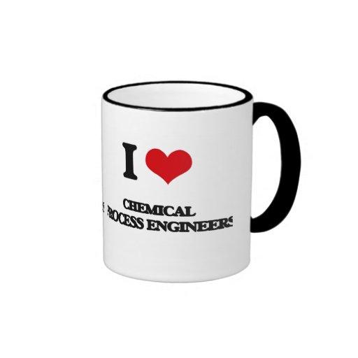 J'aime les ingénieurs des méthodes chimiques tasse à café