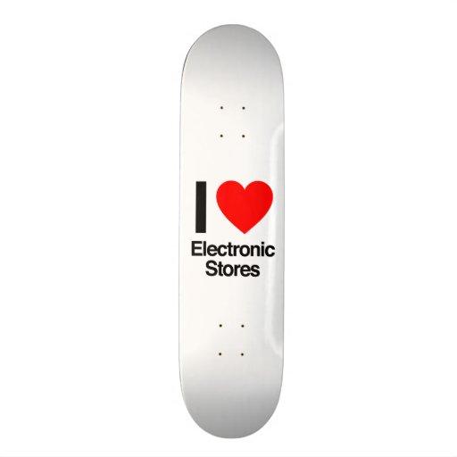j'aime les magasins électroniques skateboards customisés