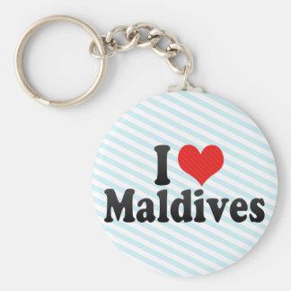 J'aime les Maldives Porte-clefs