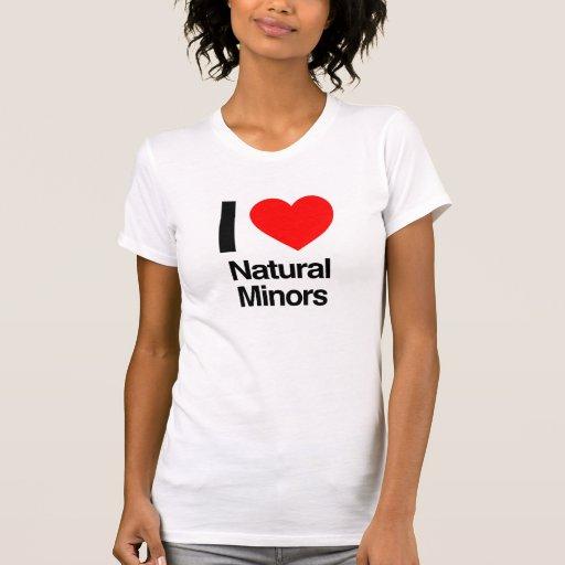 j'aime les mineurs naturels t-shirt