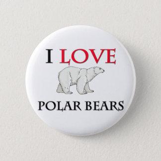 J'aime les ours blancs badge