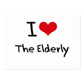 J'aime les personnes âgées carte de visite grand format