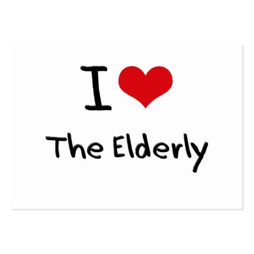 J'aime les personnes âgées modèles de cartes de visite