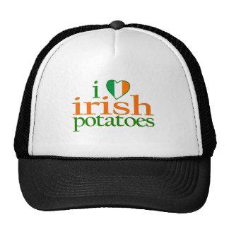J'aime les pommes de terre irlandaises casquette de camionneur