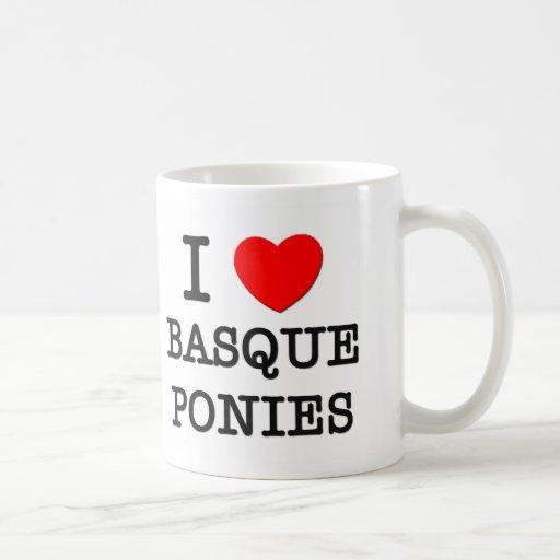 J'aime les poneys Basques (les chevaux) Tasse À Café