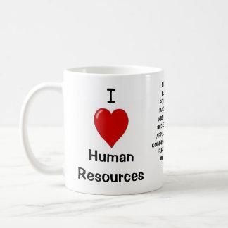 J'aime les ressources humaines - le triple a mug