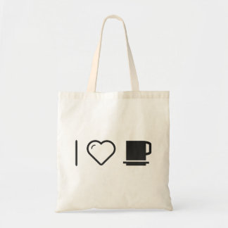 J'aime les tasses sac en toile budget