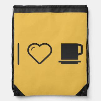 J'aime les tasses sacs avec cordons
