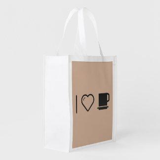 J'aime les tasses sacs d'épicerie