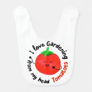 J'aime les tomates de jardinage - bavoir