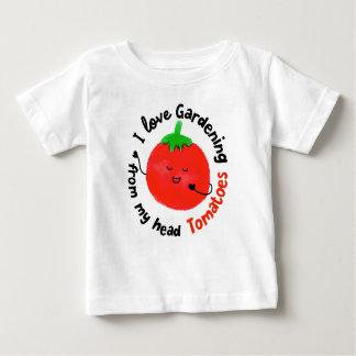J'aime les tomates de jardinage - T-shirt de bébé