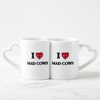 J'aime les vaches folles mugs amoureux