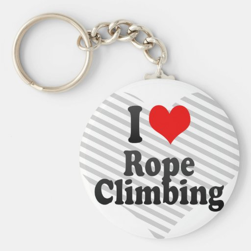 J'aime l'escalade de corde porte-clef