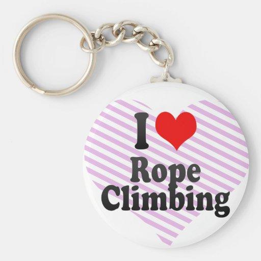 J'aime l'escalade de corde porte-clé
