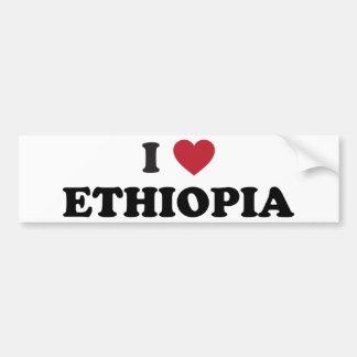 J'aime l'Ethiopie Autocollant Pour Voiture