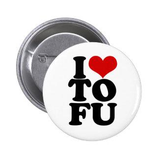 J'aime l'humour végétalien drôle de tofu badge rond 5 cm