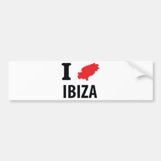 J'aime l'icône de découpe d'Ibiza Autocollant De Voiture
