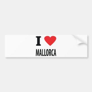 J'aime l'icône de Majorque Autocollant Pour Voiture
