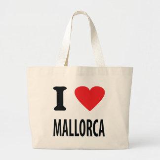 J'aime l'icône de Majorque Sac En Toile Jumbo