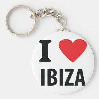 J'aime l'icône d'Ibiza Porte-clé Rond