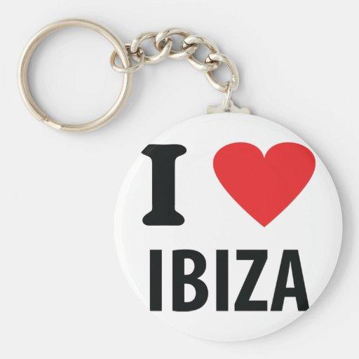 J'aime l'icône d'Ibiza Porte-clé