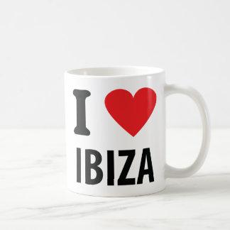 J'aime l'icône d'Ibiza Mug À Café