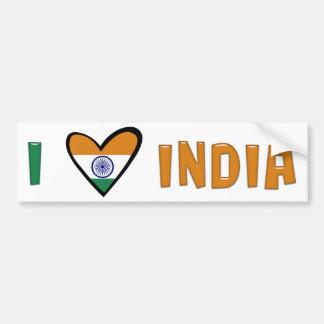 J'aime l'Inde Autocollant De Voiture