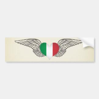 J'aime l'Italie - ailes Autocollant De Voiture
