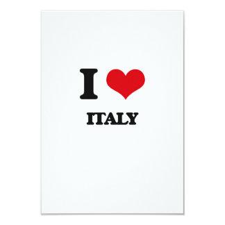 J'aime l'Italie Carton D'invitation 8,89 Cm X 12,70 Cm