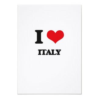 J'aime l'Italie Carton D'invitation 12,7 Cm X 17,78 Cm