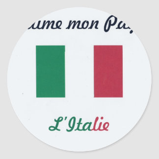 J'aime l'Italie.jpg Autocollants