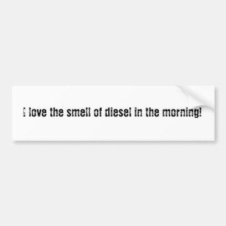 J'aime l'odeur du diesel autocollant de voiture