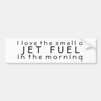 J'aime l'odeur du kérosène pendant le matin autocollant pour voiture