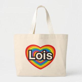 J'aime Lois. Je t'aime Lois. Coeur Grand Sac