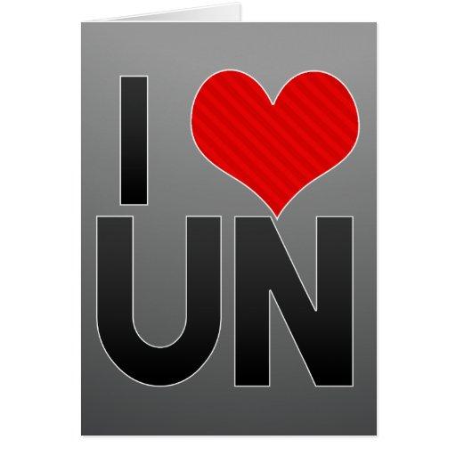 J'aime l'ONU Carte