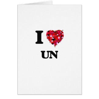 J'aime l'ONU Carte De Vœux