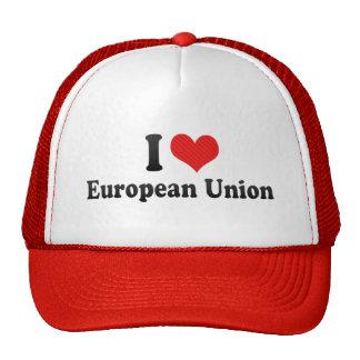 J'aime l'Union européenne Casquettes