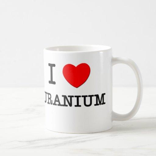 J'aime l'uranium tasse à café